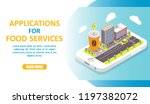 applications for food services...   Shutterstock .eps vector #1197382072