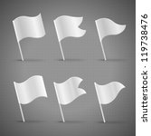 white template flags  detailed... | Shutterstock .eps vector #119738476
