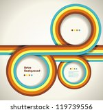 grungy retro background with... | Shutterstock .eps vector #119739556