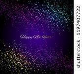 vector illustration of glowing... | Shutterstock .eps vector #1197407722