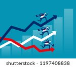competition  business running...   Shutterstock .eps vector #1197408838