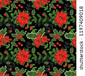 seamless pattern with winter... | Shutterstock . vector #1197409018