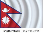 nepal flag background with... | Shutterstock .eps vector #1197410245