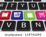 Shopping On Line Concept With...