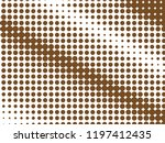 brown halftone dots. white and... | Shutterstock .eps vector #1197412435