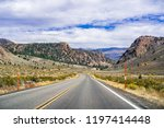 driving through the sonora pass ... | Shutterstock . vector #1197414448