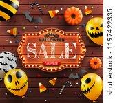 halloween sale banner with... | Shutterstock .eps vector #1197422335