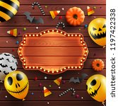 wood background for halloween... | Shutterstock .eps vector #1197422338