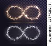 glittering infinity signs in...   Shutterstock .eps vector #1197428245
