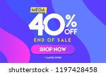 40 percent mega discount sale... | Shutterstock .eps vector #1197428458