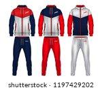 sport track suit design... | Shutterstock .eps vector #1197429202