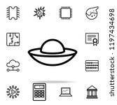 flying saucer icon. science...   Shutterstock .eps vector #1197434698