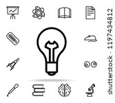 bulb icon. science icons... | Shutterstock .eps vector #1197434812