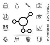 molecular compound icon.... | Shutterstock .eps vector #1197434872