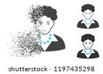 brunette woman icon with face... | Shutterstock .eps vector #1197435298