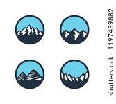 mountain logo design  vector... | Shutterstock .eps vector #1197439882
