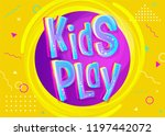kids play vector illustration... | Shutterstock .eps vector #1197442072
