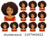 african american woman with... | Shutterstock .eps vector #1197443422