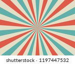 sunlight retro wide horizontal... | Shutterstock .eps vector #1197447532
