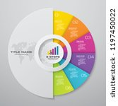 6 steps cycle infographics... | Shutterstock .eps vector #1197450022