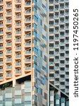 modern building abstract... | Shutterstock . vector #1197450265