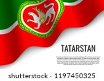 waving flag of tatarstan is a... | Shutterstock .eps vector #1197450325