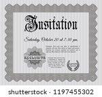 grey retro vintage invitation.... | Shutterstock .eps vector #1197455302