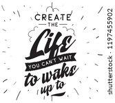 inspirational quote  motivation.... | Shutterstock .eps vector #1197455902
