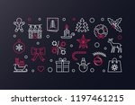 merry christmas vector creative ... | Shutterstock .eps vector #1197461215