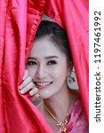beautiful thai traditional... | Shutterstock . vector #1197461992