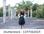 happy woman enjoying the... | Shutterstock . vector #1197462025