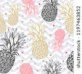 pineapple seamless pattern ... | Shutterstock .eps vector #1197463852