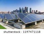 solar and modern city skyline  | Shutterstock . vector #1197471118