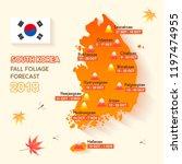 south korea fall foliage...   Shutterstock .eps vector #1197474955