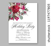 peony christmas party... | Shutterstock .eps vector #1197477805