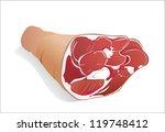 raw pork  leg  isolated on... | Shutterstock .eps vector #119748412