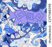 tracery seamless pattern.... | Shutterstock .eps vector #1197488398