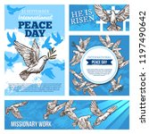 peace day international holiday ... | Shutterstock .eps vector #1197490642