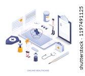 modern flat design isometric... | Shutterstock .eps vector #1197491125