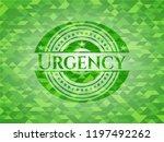 urgency green emblem. mosaic... | Shutterstock .eps vector #1197492262