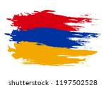 armenia flag. brush painted... | Shutterstock .eps vector #1197502528