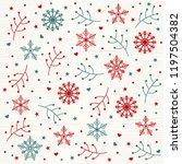 christmas pattern background...   Shutterstock .eps vector #1197504382