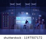 internet hacker attack and... | Shutterstock .eps vector #1197507172