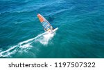 aerial drone photo of surfer... | Shutterstock . vector #1197507322
