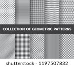 10 different geometric patterns ... | Shutterstock .eps vector #1197507832
