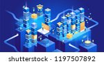 technology isometric concept.... | Shutterstock .eps vector #1197507892