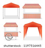 realistic detailed 3d red and... | Shutterstock .eps vector #1197516445