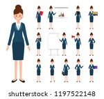 business woman character in job. | Shutterstock .eps vector #1197522148
