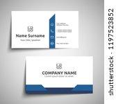 modern simple business card set ... | Shutterstock .eps vector #1197523852