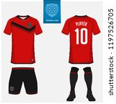 soccer jersey or football kit ... | Shutterstock .eps vector #1197526705